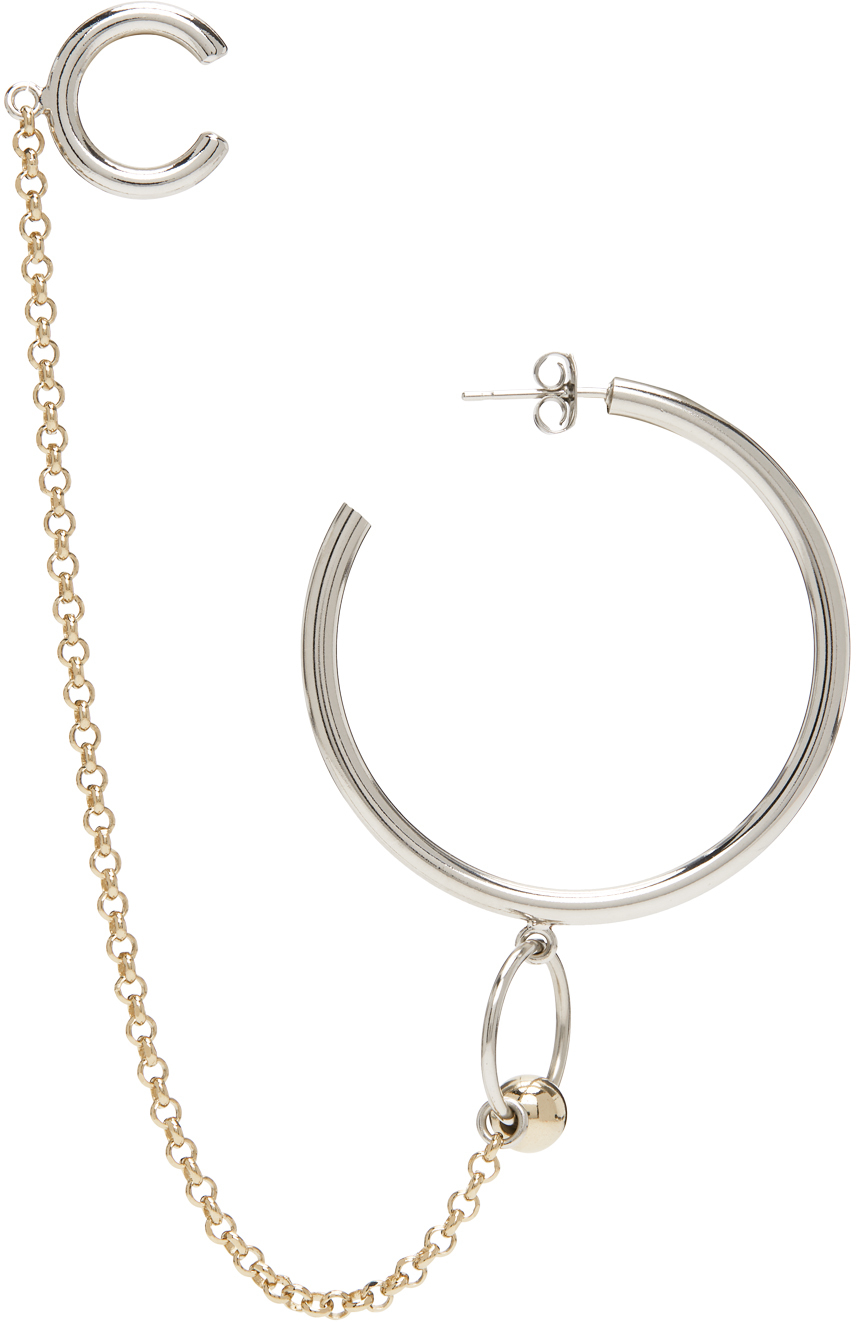 Silver & Gold Nicky Ear Cuff Earring