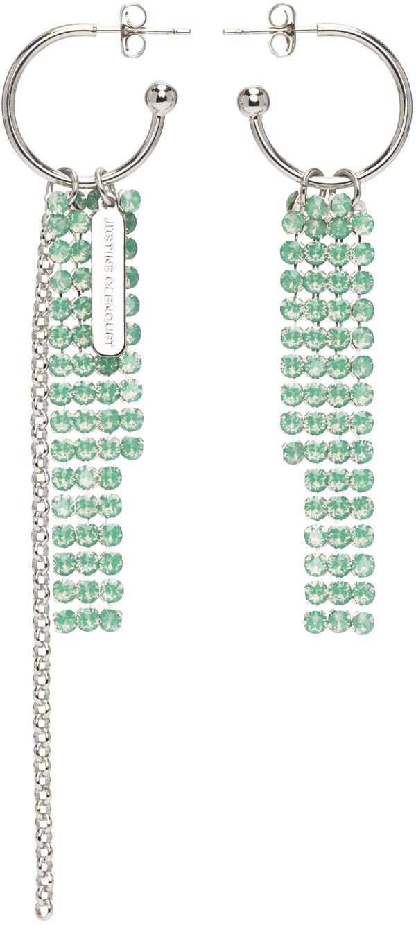 Silver & Green River Earrings