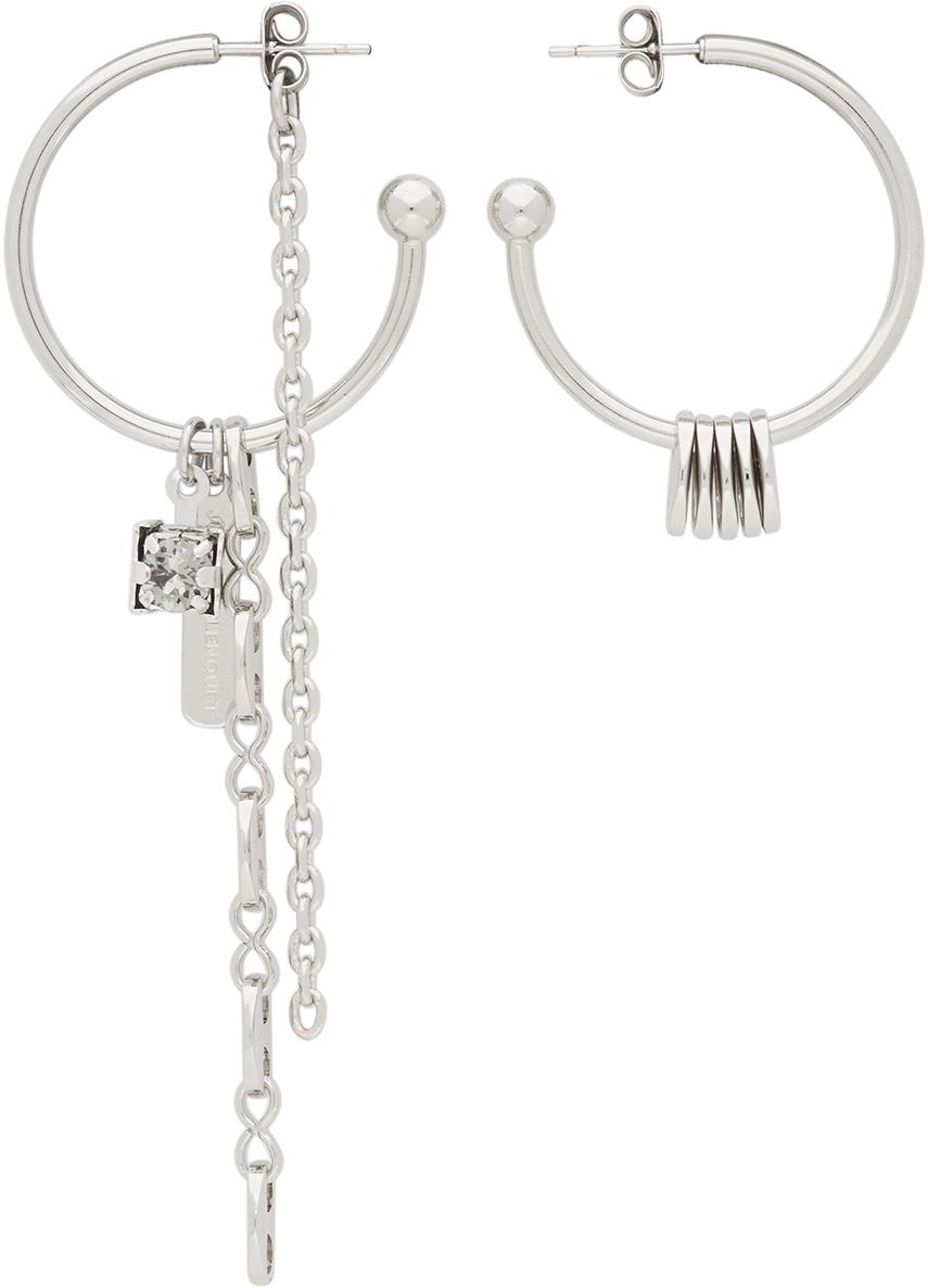 SSENSE Exclusive Silver & Grey Sam Earrings