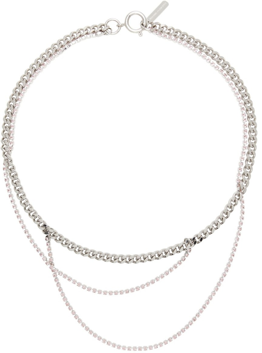 SSENSE Exclusive Pink Gemma Necklace