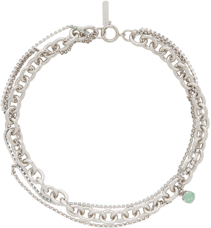 Silver & Green Uma Necklace