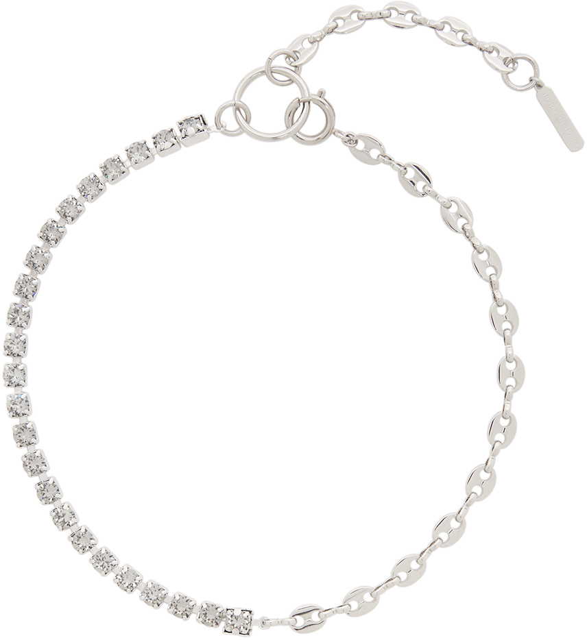 SSENSE Exclusive Silver & Grey Vic Necklace