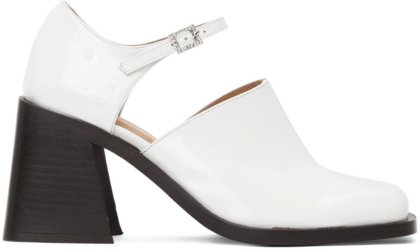 White Kate Heels
