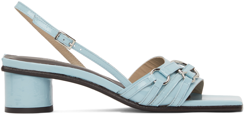 Blue Drew Heeled Sandals