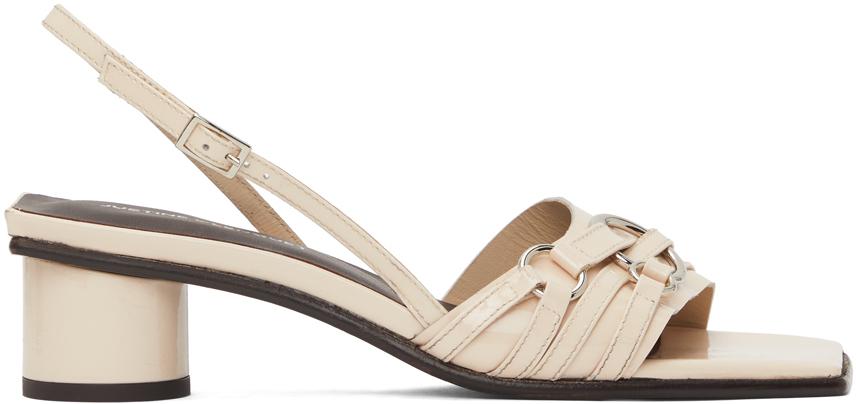 Beige Drew Heeled Sandals