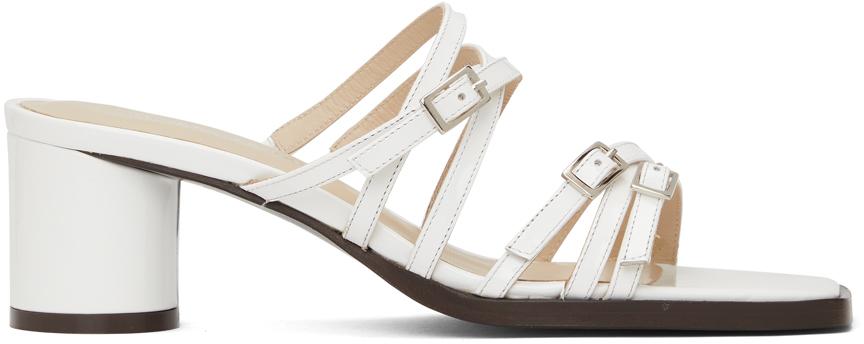 White Jane Heeled Sandals