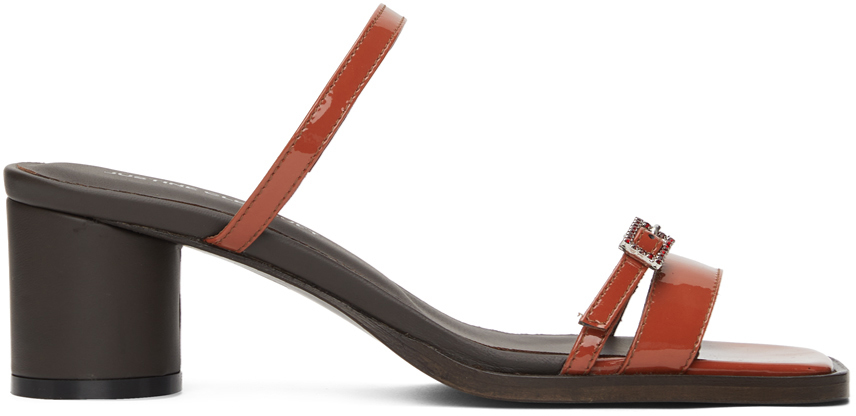 Red Liv Heeled Sandals