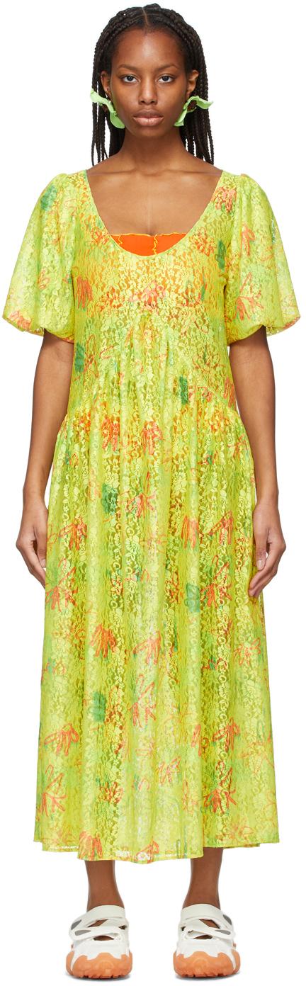 Yellow Floral Princess Mariposa Dress