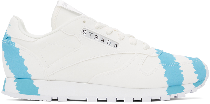White Reebok Edition 'Call Mom' Classic Leather Sneakers