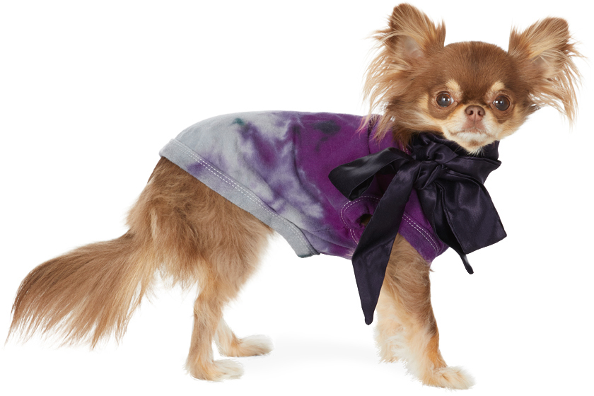 SSENSE Exclusive Purple Tie-Dye Bow T-Shirt