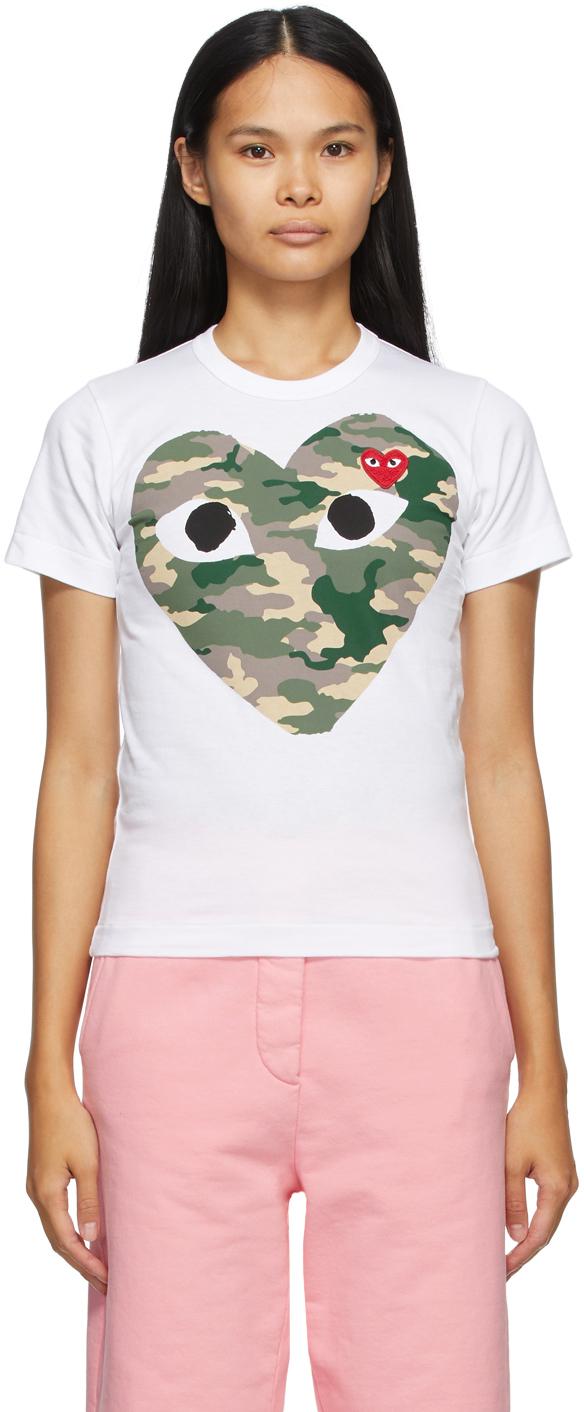 White Camo Heart T-Shirt