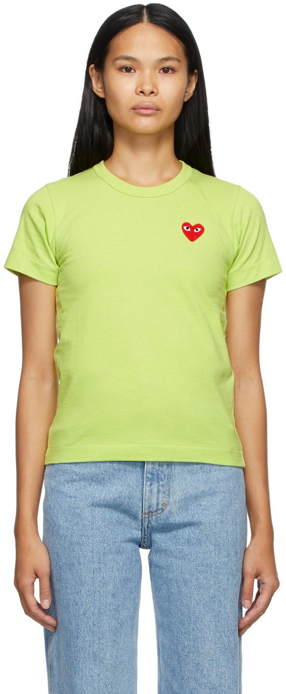 Green Heart Patch T-Shirt