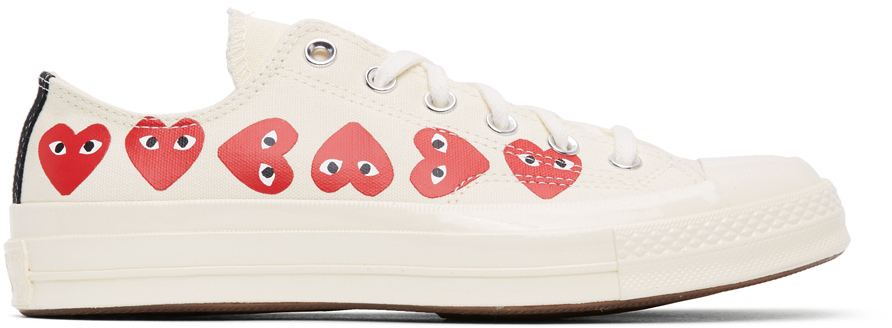 Off-White Converse Edition Multiple Hearts Chuck 70 Low Sneakers