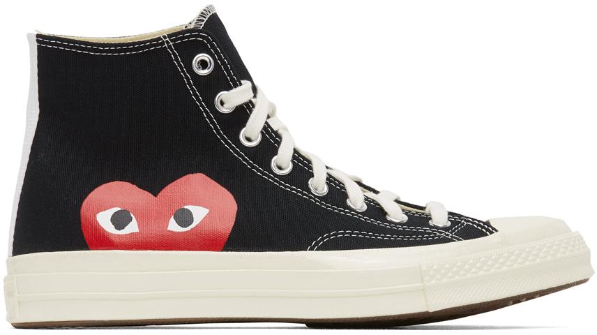 Black Converse Edition Half Heart Chuck 70 High Sneakers