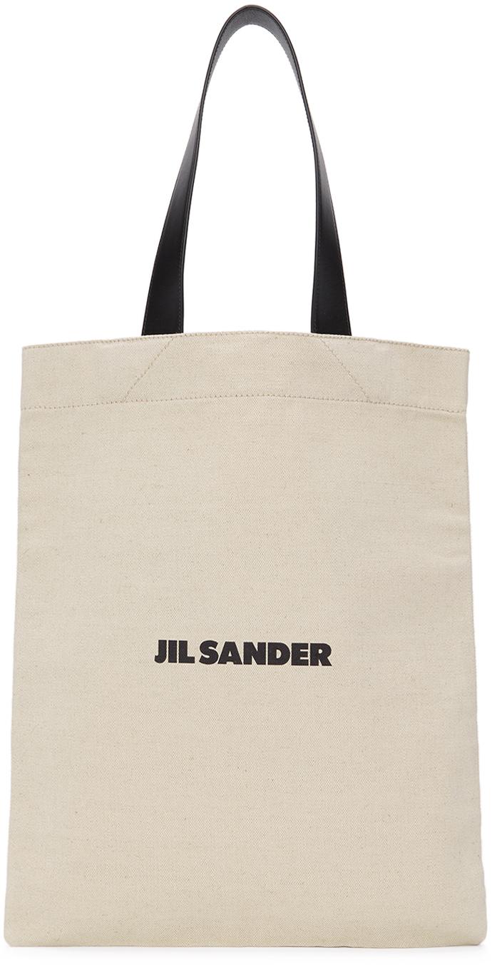 Jil Sander SSENSE 限定 オフホワイト ミディアム Flat Shopper トート