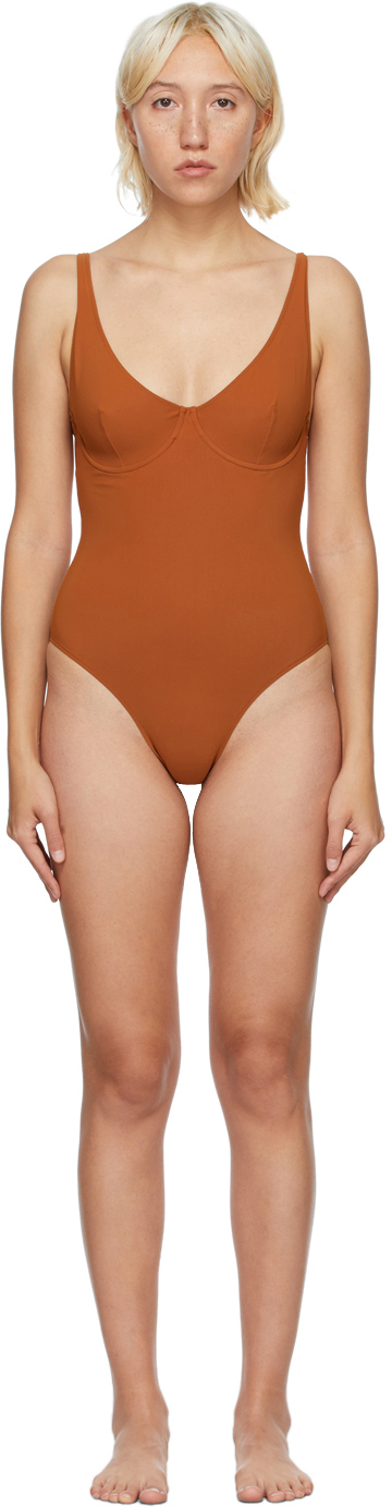 Orange Diciotto One-Piece Swimsuit