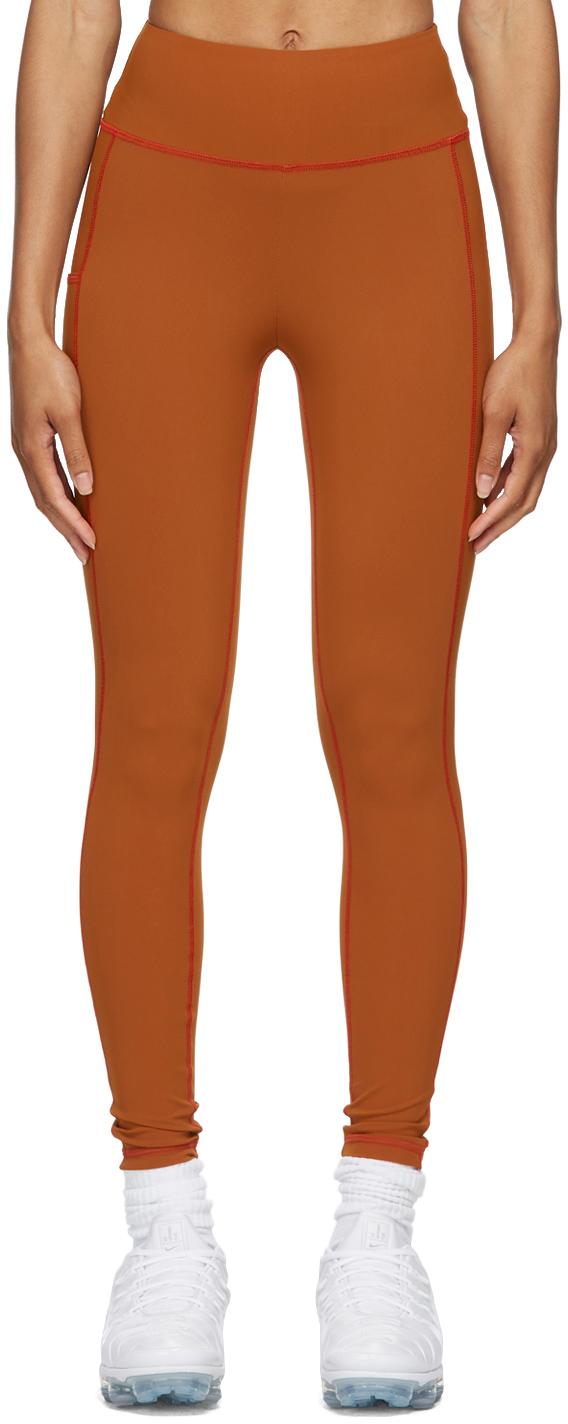 Brown High-Rise Leggings