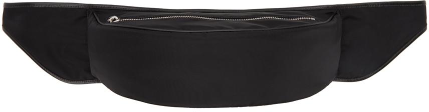 Black Satin Belt Bag