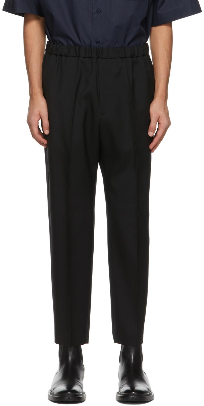 Jil Sander 黑色羊毛长裤