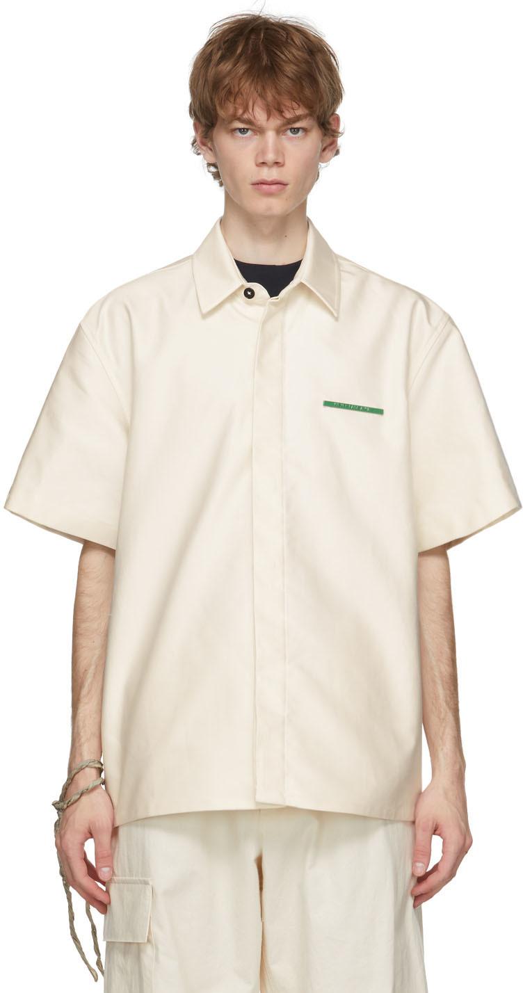 Off-White Heavy Poplin Pin Short Sleeve Shirt