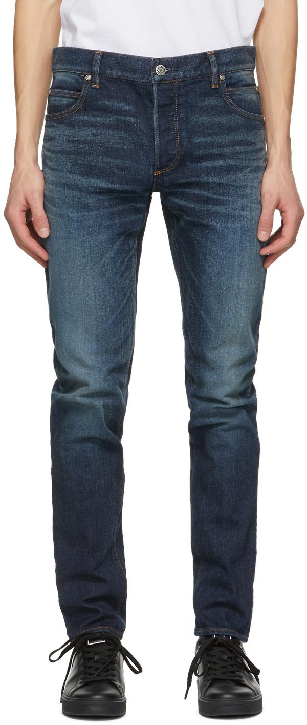 Balmain 蓝色 Vintage 牛仔裤