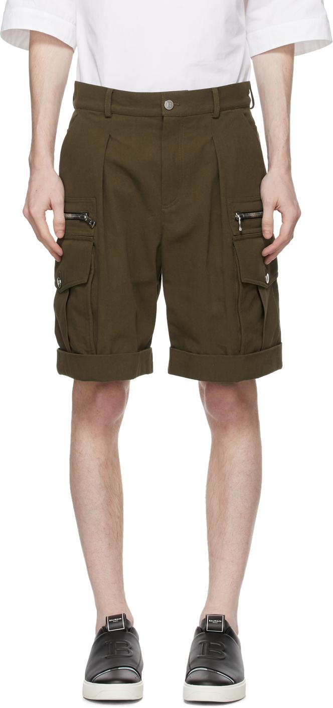 Balmain 卡其色 Cargo 百慕大短裤