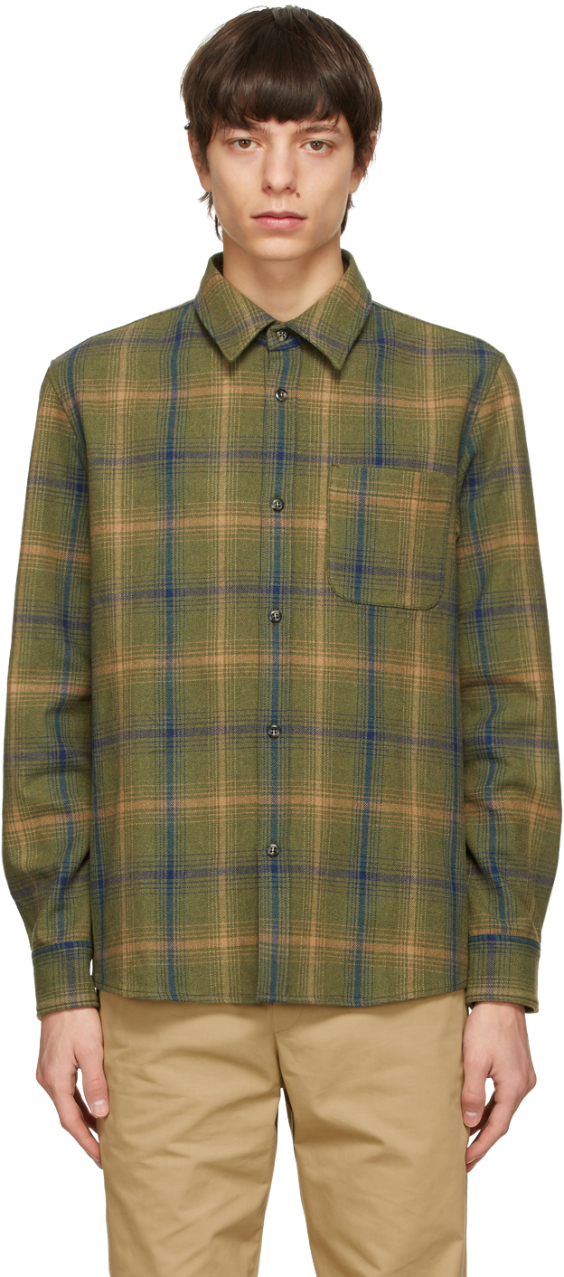 Green Check Trek Over Shirt