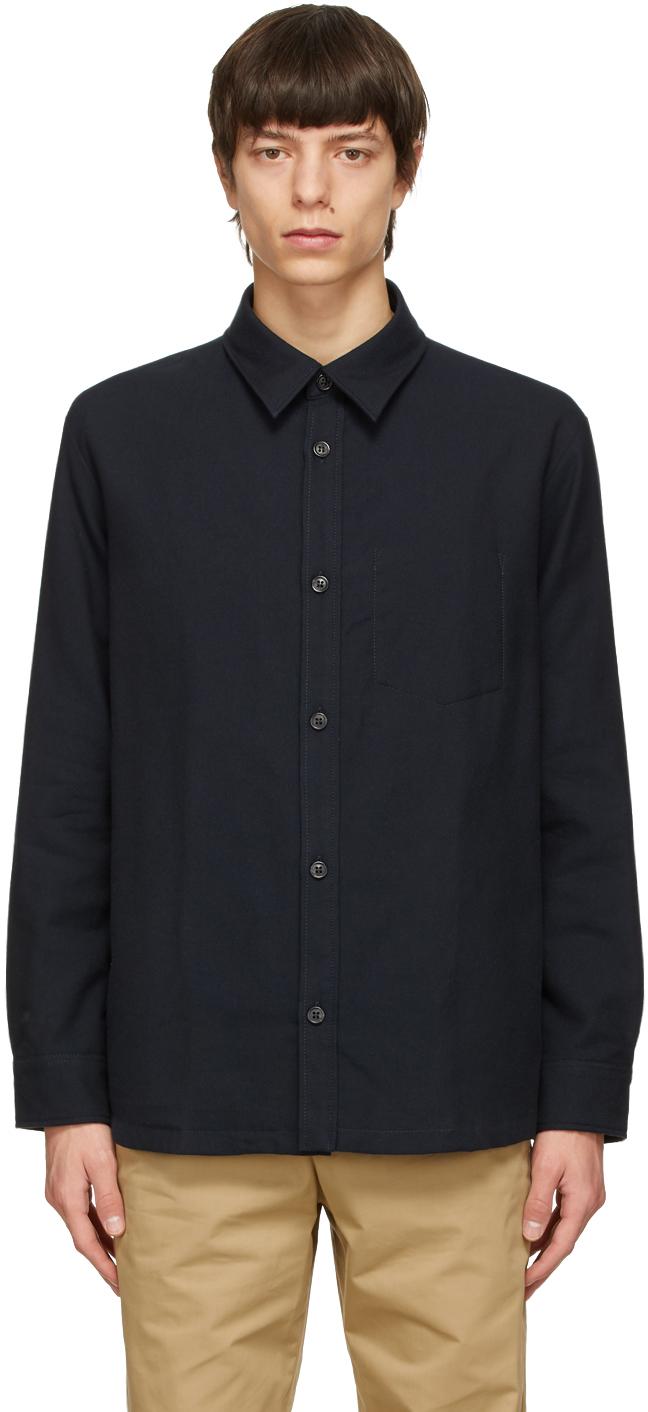 Navy Bill Over Shirt