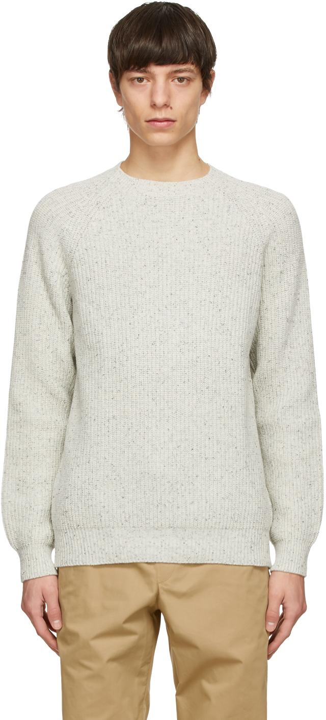 A.P.C. 灰色 Ludo 夹色毛衣