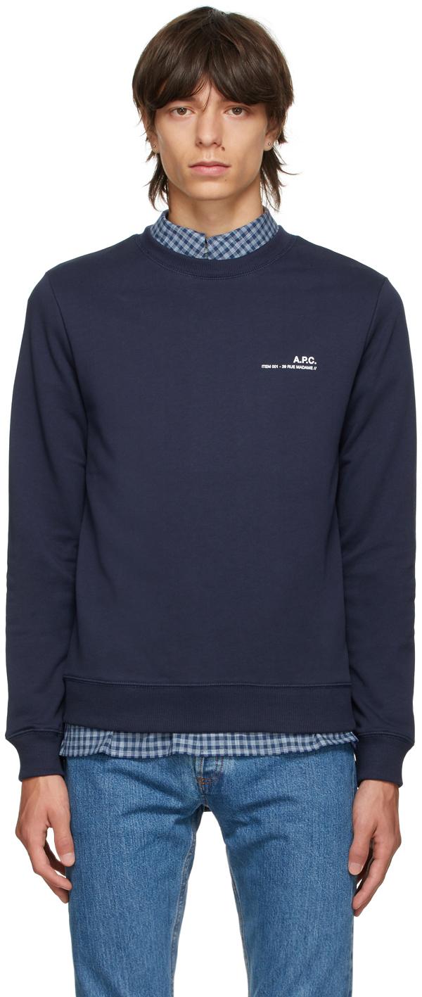 Navy Logo Crewneck Sweatshirt