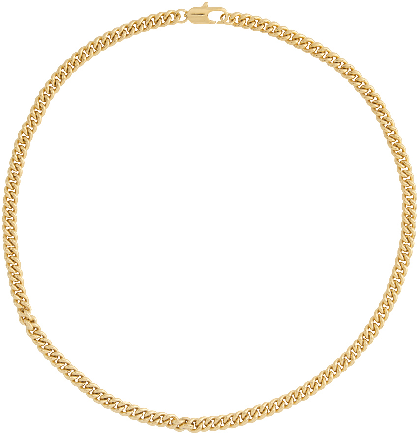Gold Curb Chain Necklace