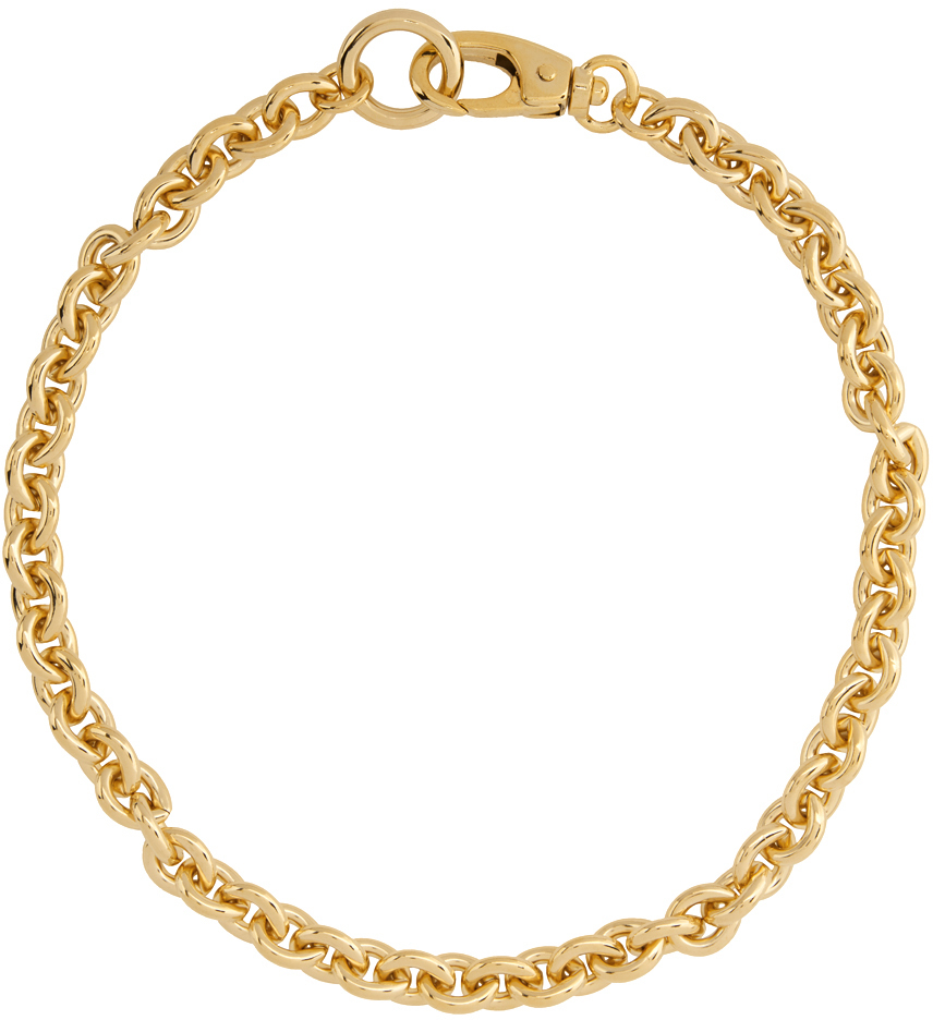 Gold Cable Chain Necklace