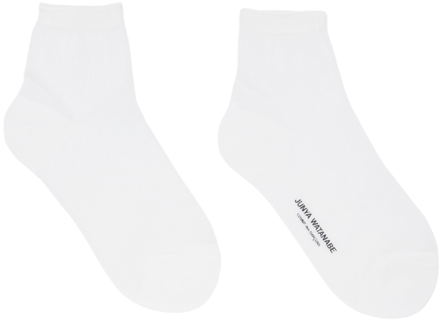 White Mesh Glitter Socks