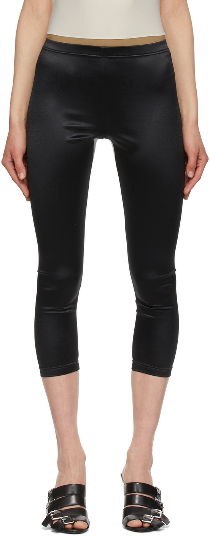 Black Jersey Leggings