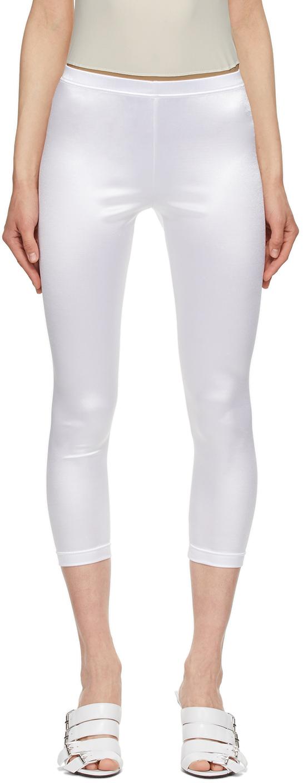 White Jersey Leggings