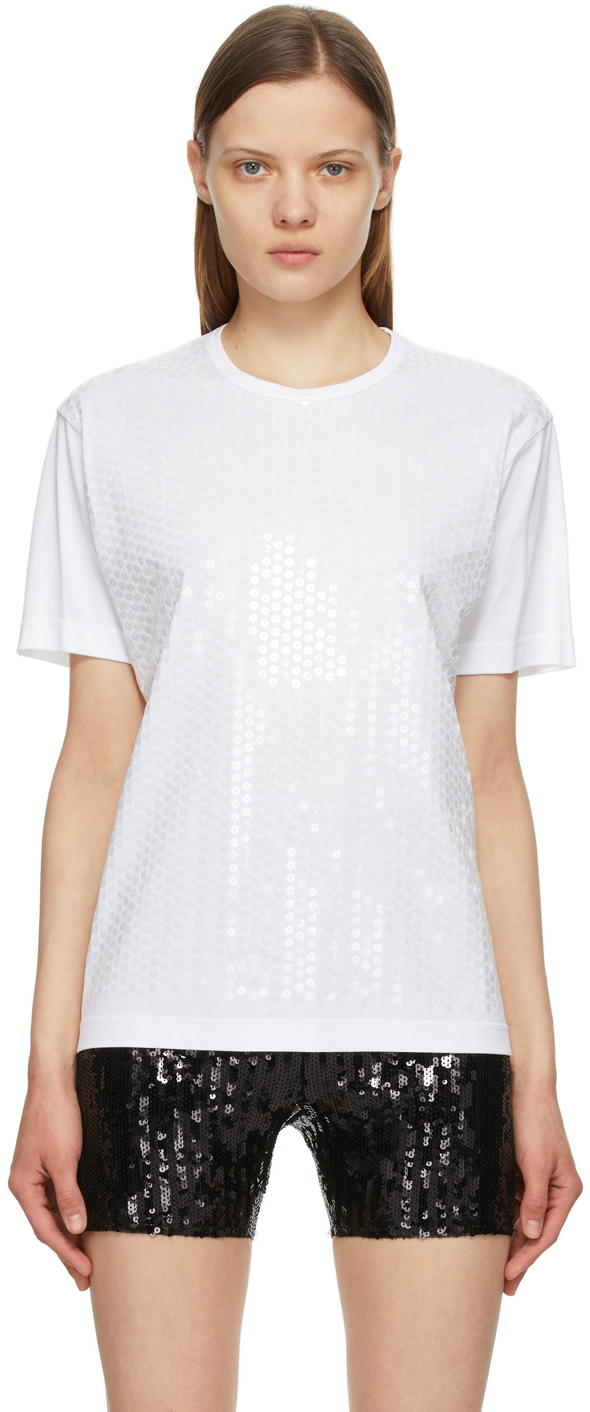 White Sequin T-Shirt