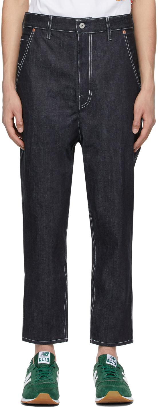 Indigo Straight-Leg Jeans