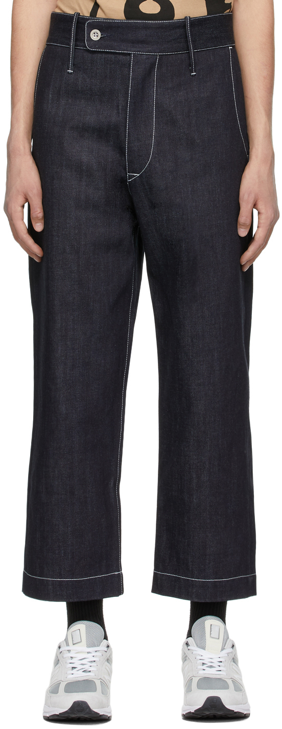 Indigo Wide-Leg Jeans