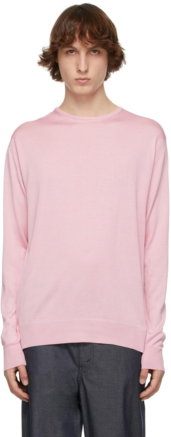 Pink Silk Jersey Thin Sweater