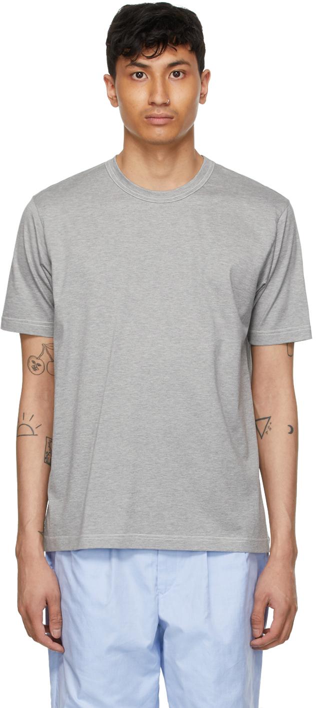 Grey Jersey 'Man' T-Shirt