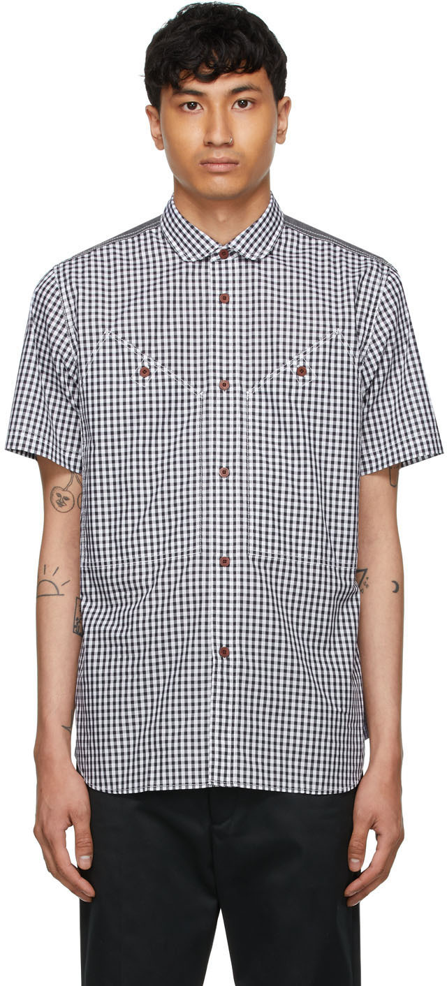 White Check Short Sleeve Shirt
