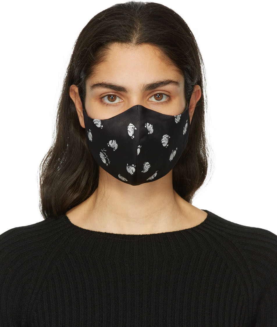 Two-Pack Blue & Black Mother & Daughter Face Masks