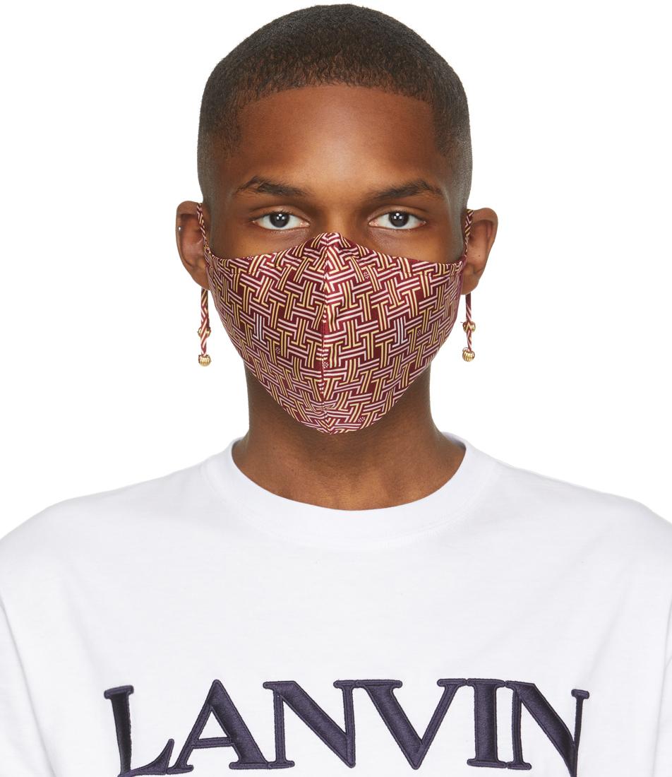 Lanvin 酒红色 JL Maze 口罩