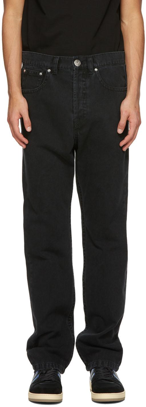 Black Straight-Leg Jeans