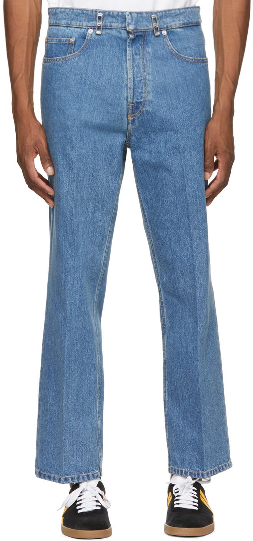Blue Logo Hardware 5 Pocket Jeans