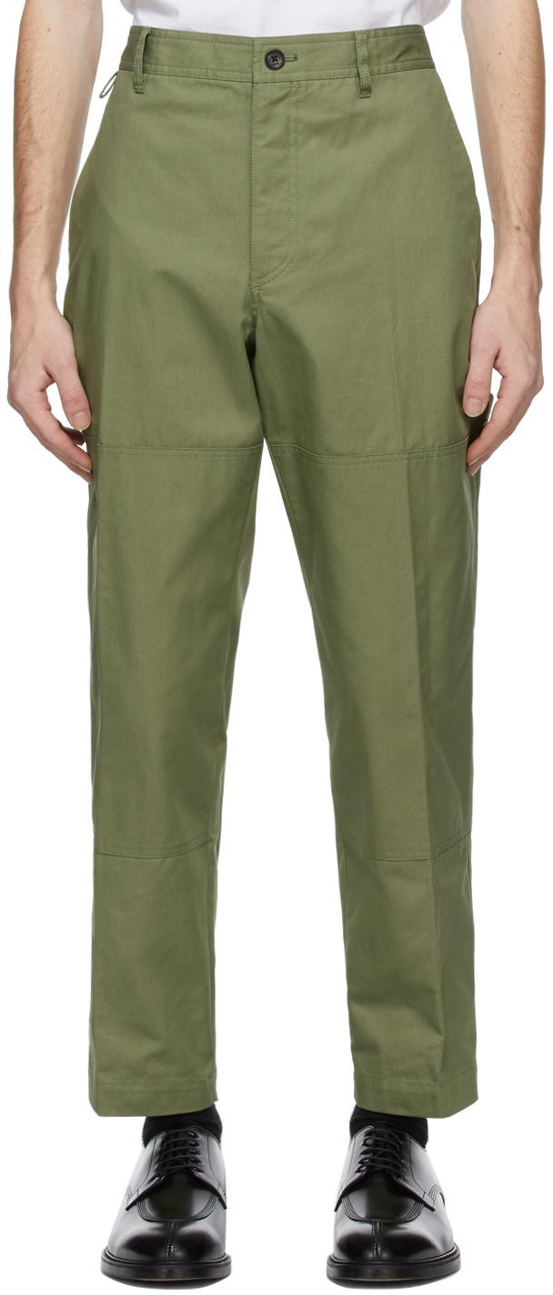 Khaki Biker Trousers