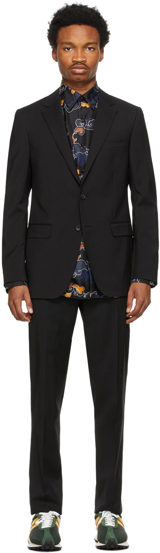 Black Half Canvas Suit