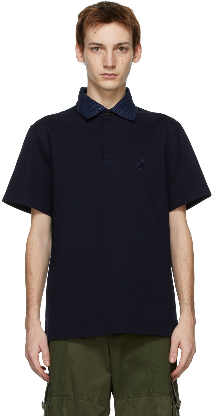 Navy Logo Short Sleeve Polo