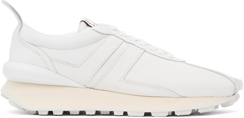 White Leather Bumpr Sneakers
