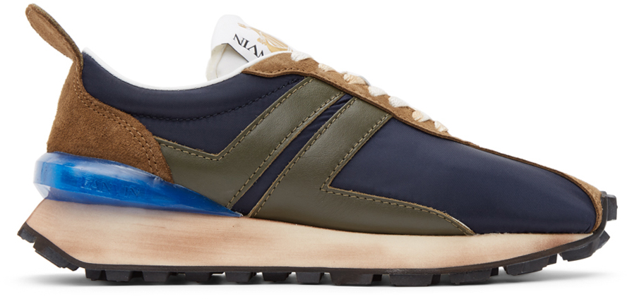 Navy Nylon Bumpr Sneakers